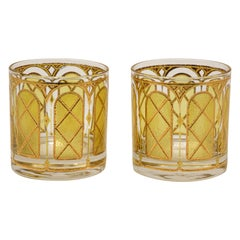 Vintage Gold Glasses by Fred Press Set of Two