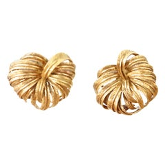 Vintage Gold Leaf Earrings