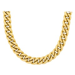 Vintage Gold Linked Necklace, circa 1970s
