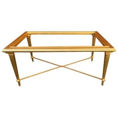 Vintage Gold Metal Coffee Table