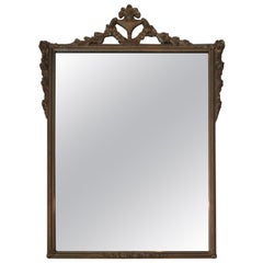 Vintage Gold Mirror with Floral Detail