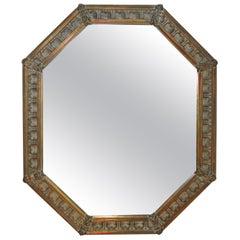 Vintage Gold Octagonal Mirror