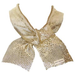 Vintage Gold PACO RABANNE Disco Mesh Scarf