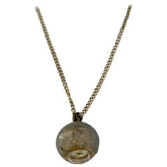 Vintage Gold-Plated Bvler Mechanical Pendant Ball Watch