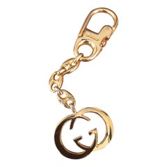 Vintage Gold-Plated Logo Keychain by Gucci