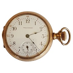 Vintage Gold-Plated Waltham Pocket Watch, Early 1900s, Working, 17 Jewel