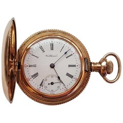 Vintage Gold-Plated Waltham Pocket Watch, Year 1899, Model 1891, 7 Jewel, Size O