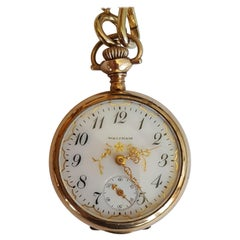 Vintage Gold-Plated Waltham Pocket Watch, Year 1903, Model 1900, 15 Jewel