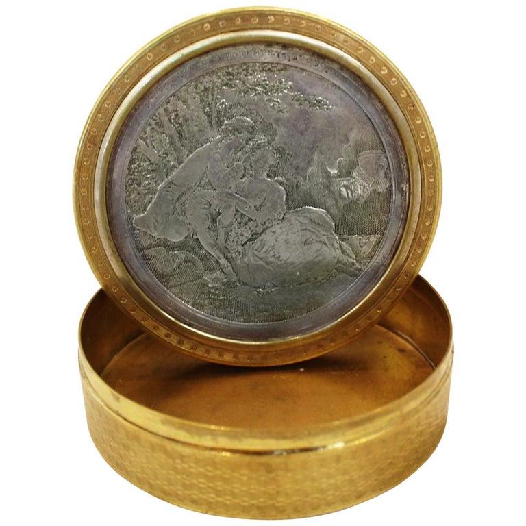 "Vintage Gold & Silver Plated  ""Les Printemps""  by Francois Boucher For Sale"