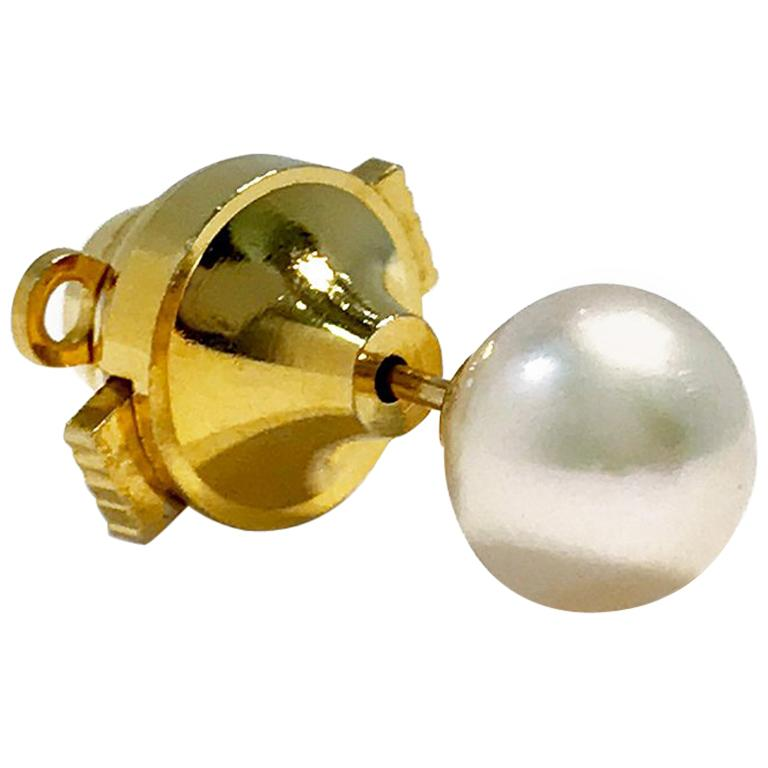 514d73e53d51 Vintage Gold Single Pearl Tie Tack For Sale at 1stdibs