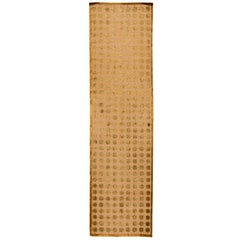 Vintage Gold Tibetan Runner Rug