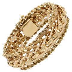 Vintage Gold Woven Bracelet