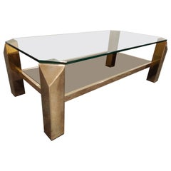 Vintage Golden Coffee Table, 1970s