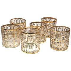 Vintage Golden Shoji, Imperial Glass No. 104 Set of 6 Glasses