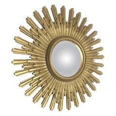 Vintage Sunburst goldenen Spiegel, 1960er Jahre