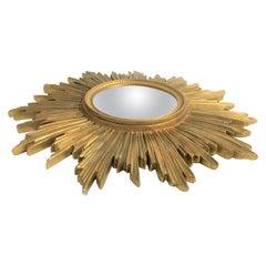 Vintage Golden Sunburst Mirror, 1960s