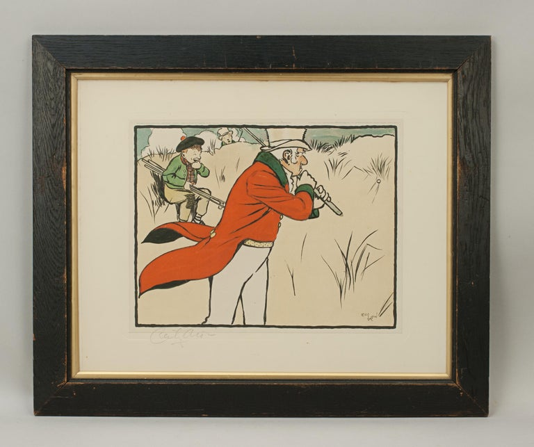 Sporting Art Vintage Golf Print, Cecil Aldin, Old English Sports and Pastimes For Sale