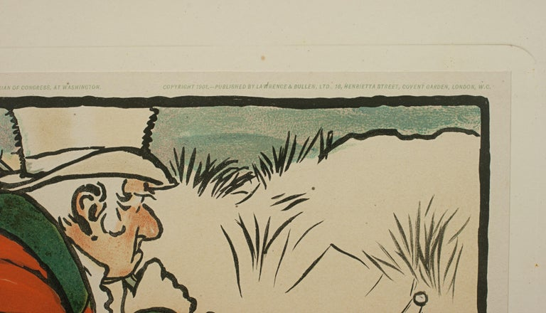 Early 20th Century Vintage Golf Print, Cecil Aldin, Old English Sports and Pastimes For Sale