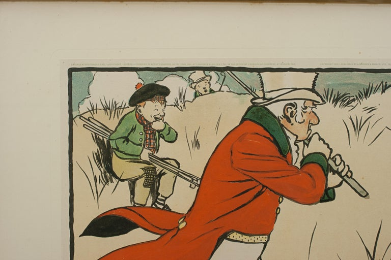Paper Vintage Golf Print, Cecil Aldin, Old English Sports and Pastimes For Sale