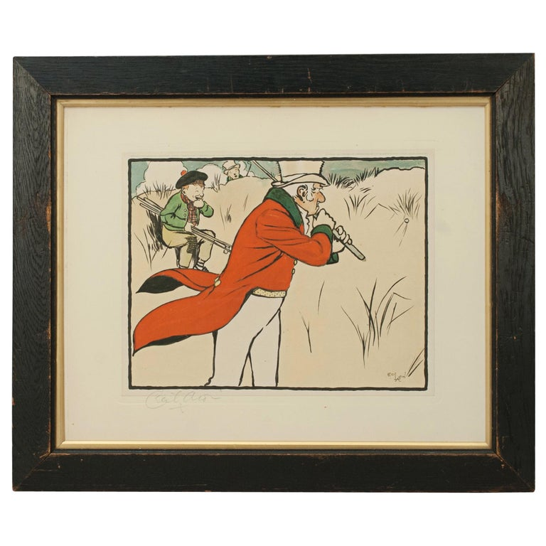 Vintage Golf Print, Cecil Aldin, Old English Sports and Pastimes For Sale