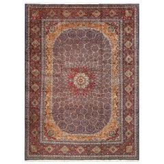 Vintage Gonbad Design Tabriz Persian Rug. Size: 11 ft 11 in x 16 ft 3 in