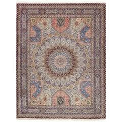 Vintage Gonbad Design Tabriz Persian Rug. Size: 9 ft 11 in x 13 ft