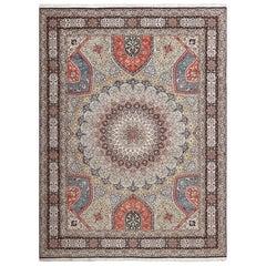 Vintage Gonbad Design Tabriz Persian Rug. Size: 9 ft 8 in x 12 ft 11 in