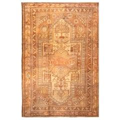 Vintage Gordes Transitional Beige and Brown Wool Rug
