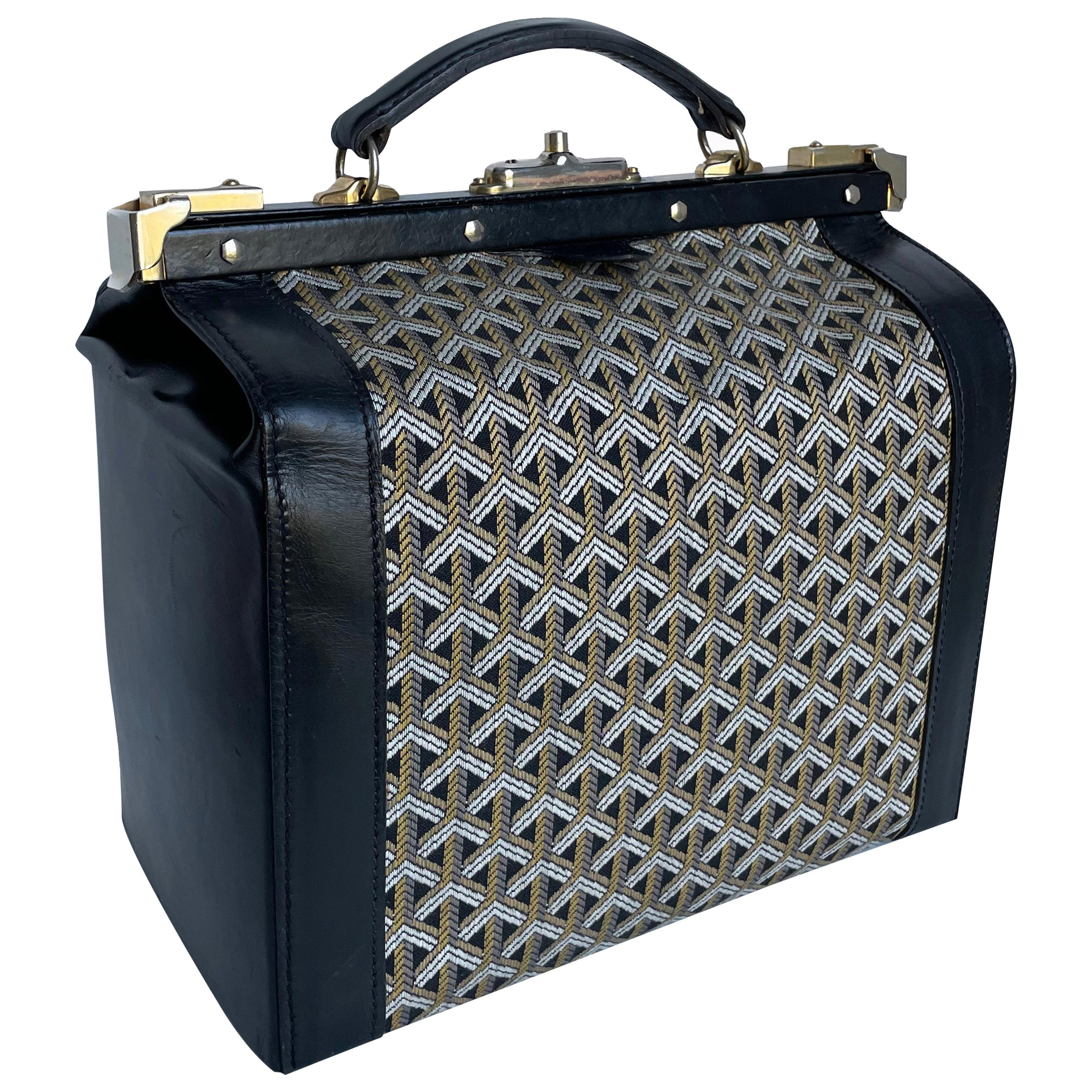 Vintage Goyard Train Case Vanity Gladstone Bag Travel Carry On 1950s Rare
