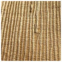 Vintage Gracie Studio Handmade Woven Natural Grasscloth Custom Wallpaper, 1991