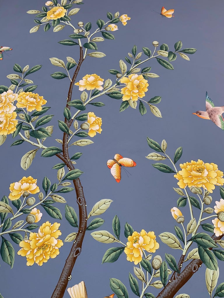 Vintage Gracie Wallpaper Panel In Good Condition For Sale In Doylestown, PA