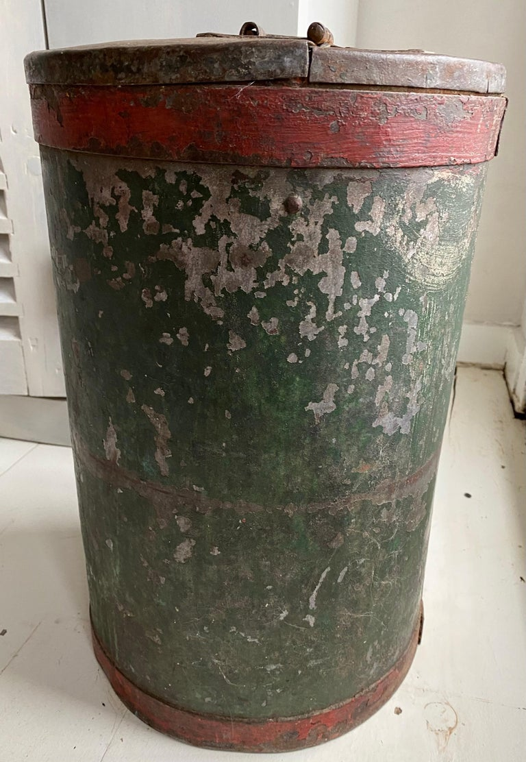 Anglo-Indian Vintage Grain Container from India For Sale