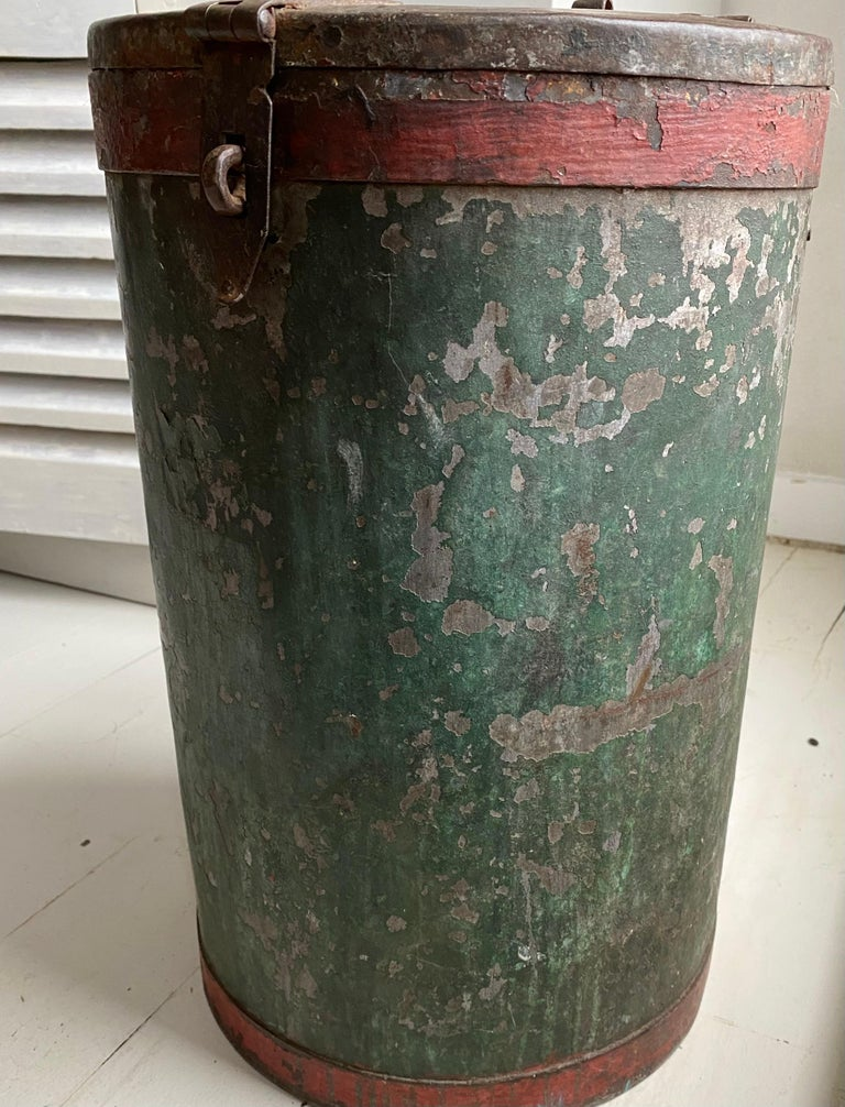 Vintage Grain Container from India In Good Condition For Sale In Great Barrington, MA