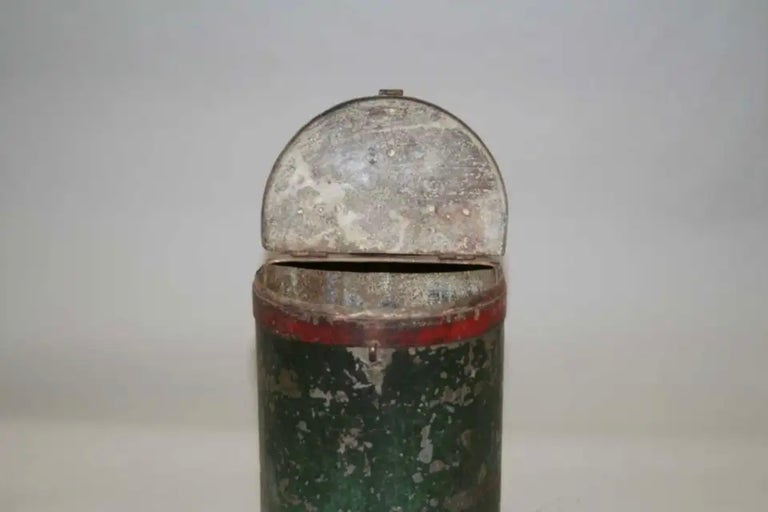 Metal Vintage Grain Container from India For Sale