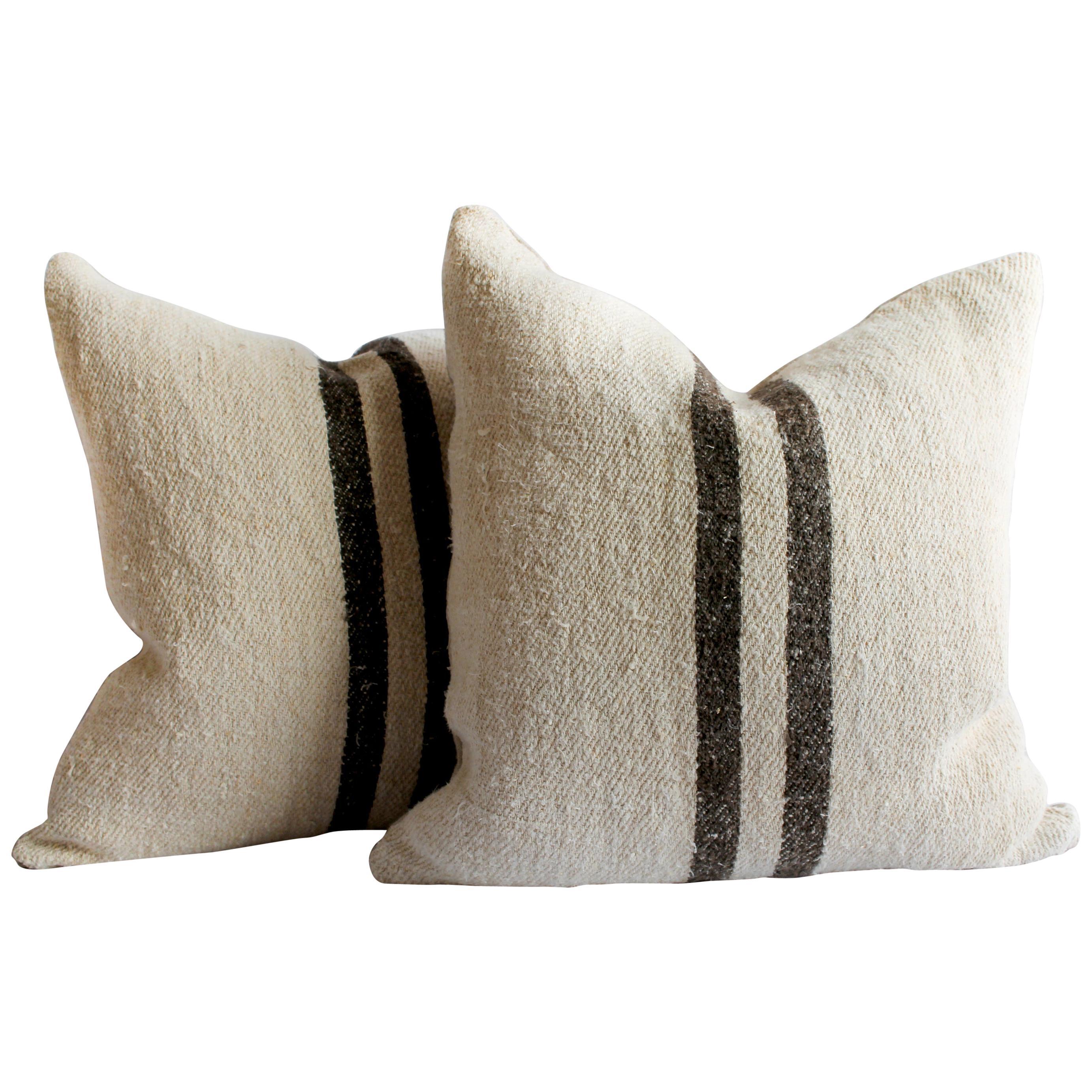 Grainsack Canvas Pillow grain sack