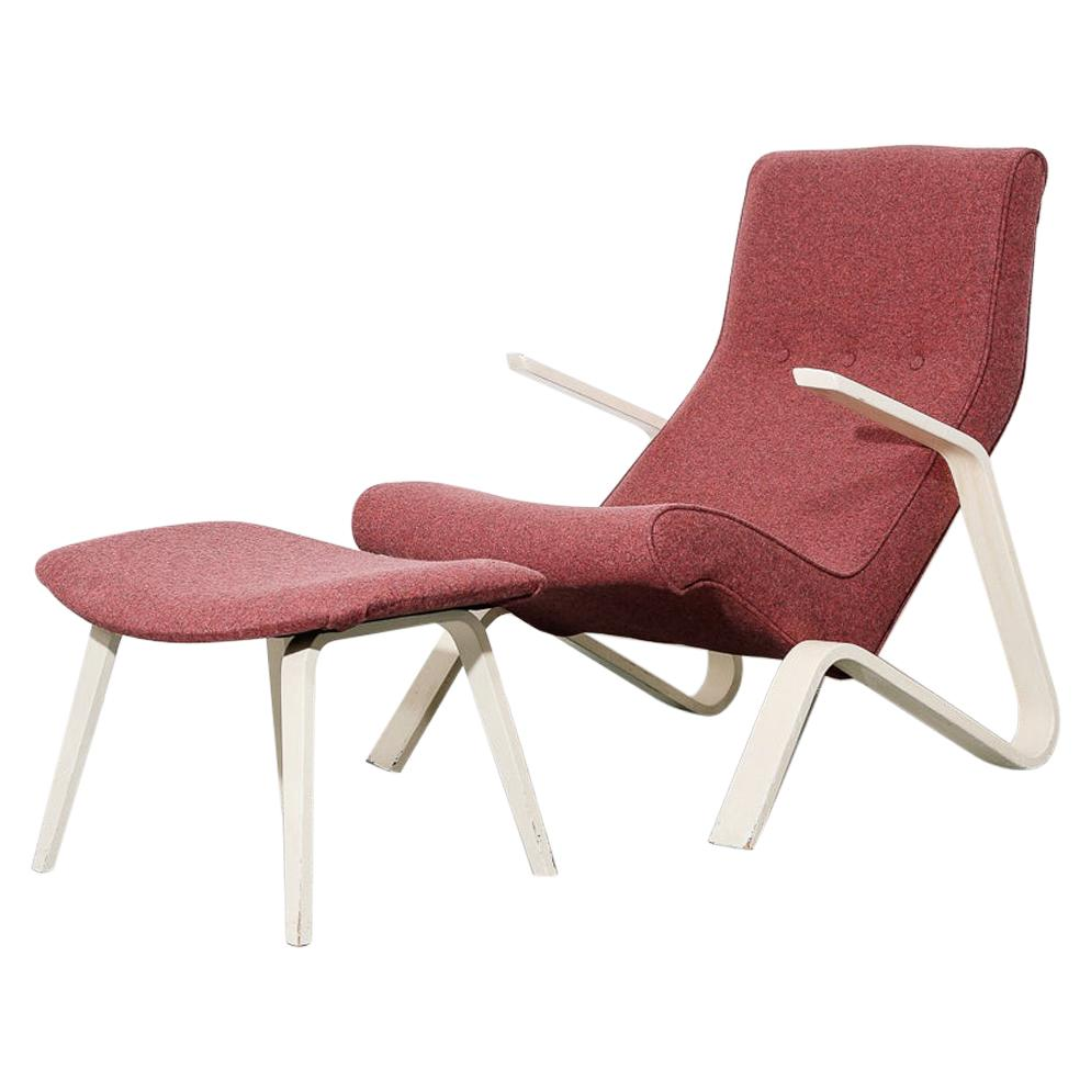 Vintage Grasshopper Lounge Chair and Ottoman