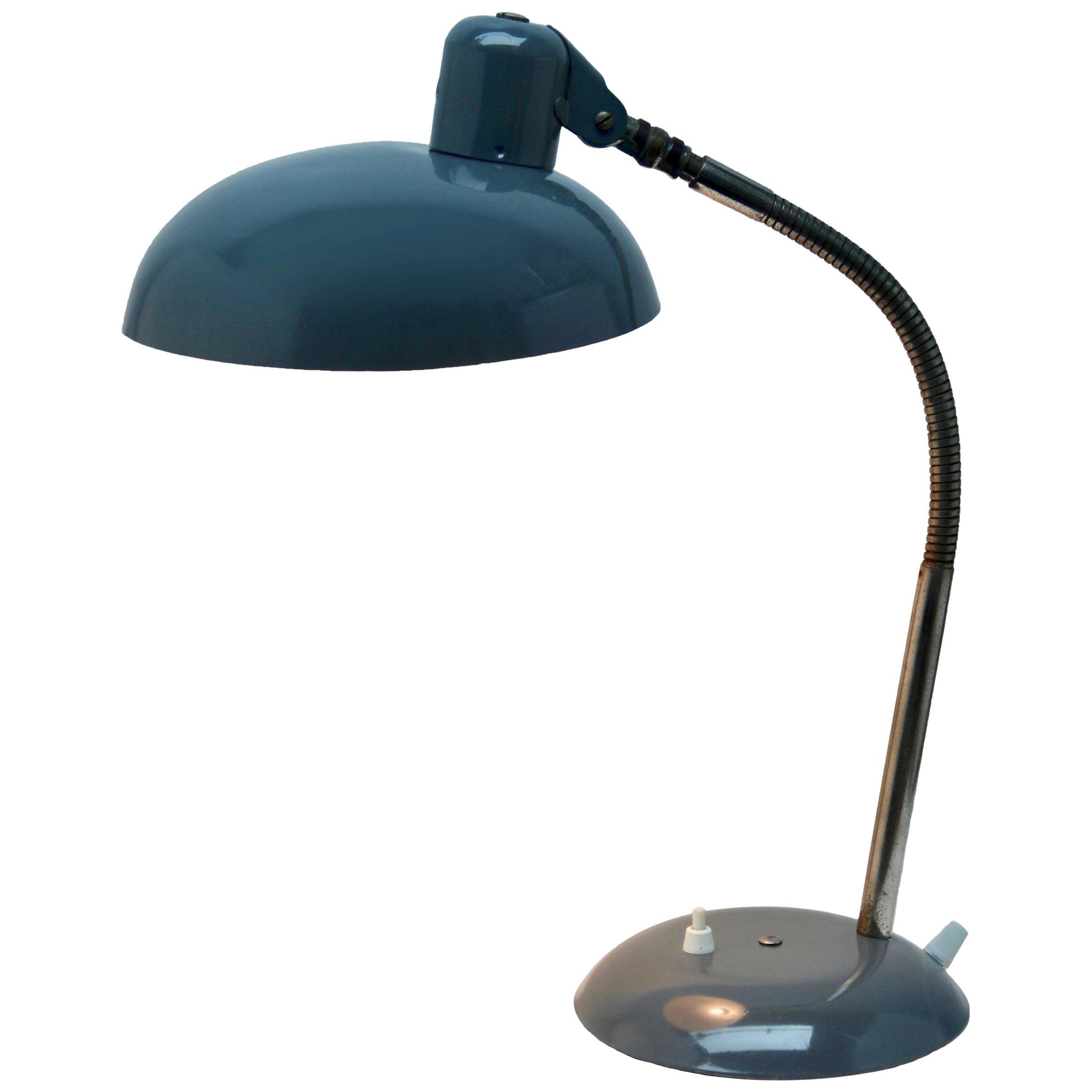 Vintage Gray Adjustable Desk/Side Table Lamp by Sis, 1950s