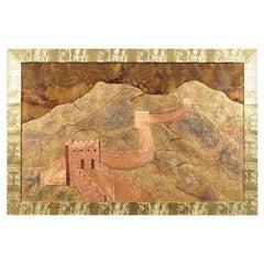 """Vintage """"Great Wall of China"""" Wall Art"""