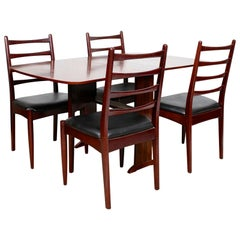 Vintage Greaves Thomas Rosewood Dining Table and 4 Chairs