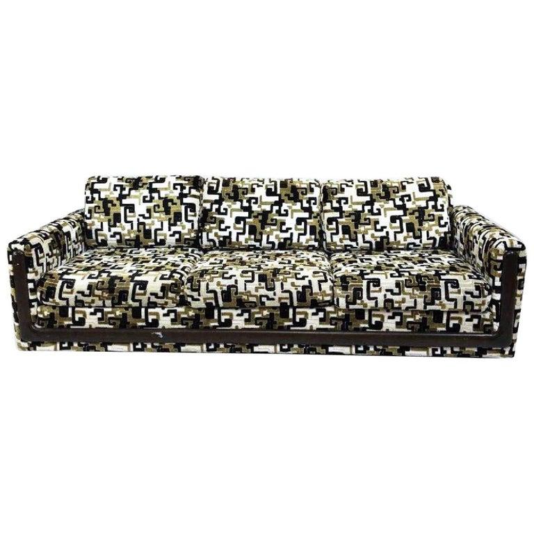 Fantastic Vintage Greek Key Velvet Custom Sofa Black Gold Green Creativecarmelina Interior Chair Design Creativecarmelinacom