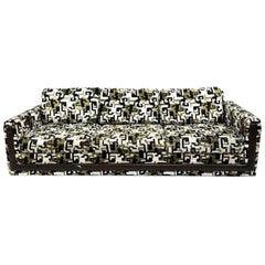 Modern Jack Lenor Larsen Greek Key Velvet Custom Sofa, YEAR-END CLEARANCE