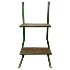 Vintage Green Industrial Shelf