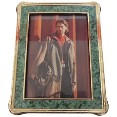 Vintage Green Malachite Finish Decorative Picture Frame