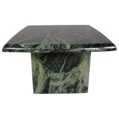 Vintage Green Marble Side Table