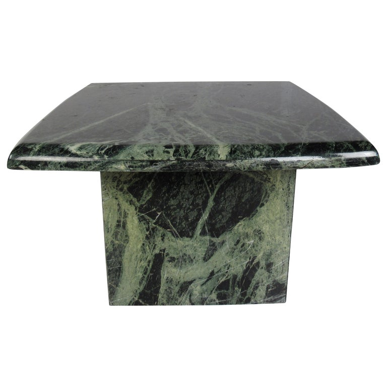 Vintage Green Marble Side Table For Sale At 1stdibs