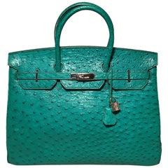 Vintage Green Ostrich Birkin Bag