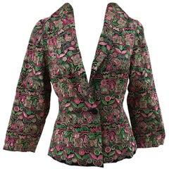 Vintage green pink fluo jacket