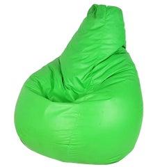 Vintage Green Plastic 1968 Armchair Sacco by Gatti, Paolini Teodoro for Zanotta