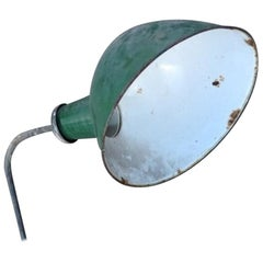 Vintage Green Shabby Industrial light, 20th Century