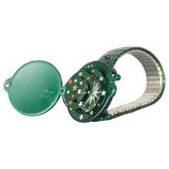 Vintage green Swatch SEASONS GREETING GZ900, 1997